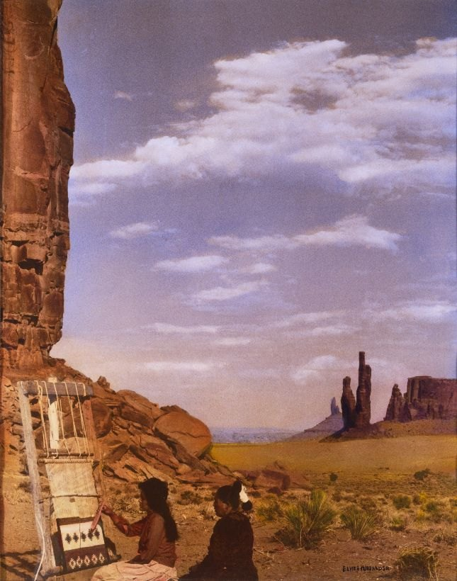 Weavers in Monument Valley