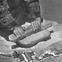 Navajo Hands on Stone