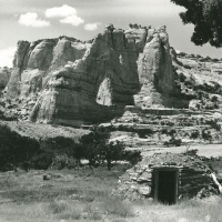 Navajo Hogan Beneath White Mesa Arch