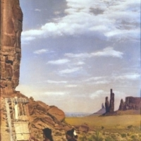 Weavers in Monument Valley Giclee