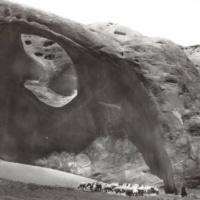 Sheep herders below Mocassin Arch