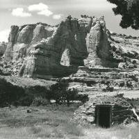 Navajo Hogan Beneath White Mesa Arch